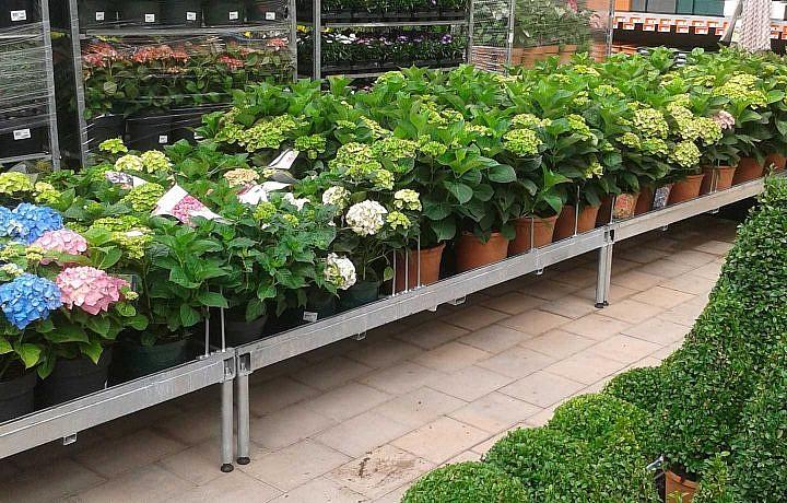 Pflanzentische mit Abteilerbügel
